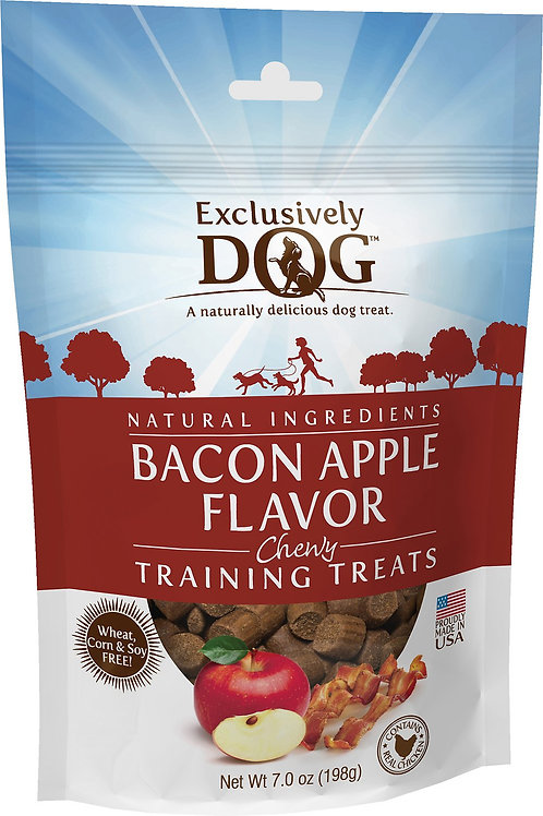 Exclusively Dog Bacon Apple Flavor