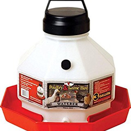 Little Giant Plastic Poultry Waterer 3 Gallon