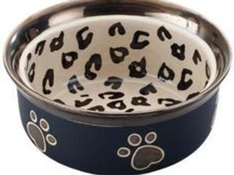 "Ritz Copper Rim 5"" Leopard Cat Dish"