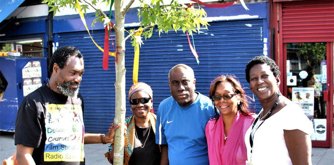 Reggae Tree L-R Kwaku Awula Serwah Cllr