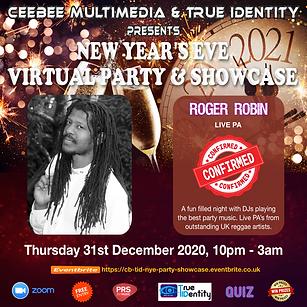 Roger Robin Flyer - CB & TID NYE Virtual