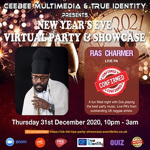 Ras Charmer Flyer - CB & TID NYE Virtual