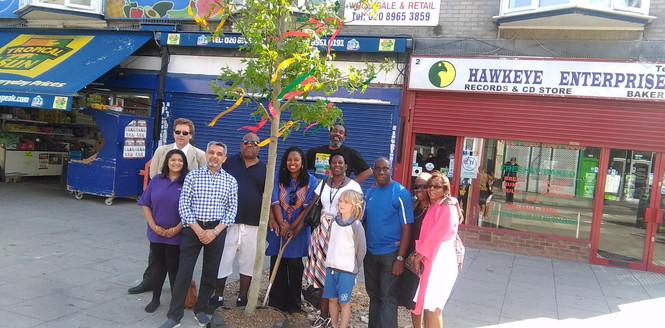 Reggae Tree with Cllr Butt Dawn MP etc.j
