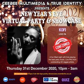 Kofi Flyer - CB & TID NYE Virtual Party