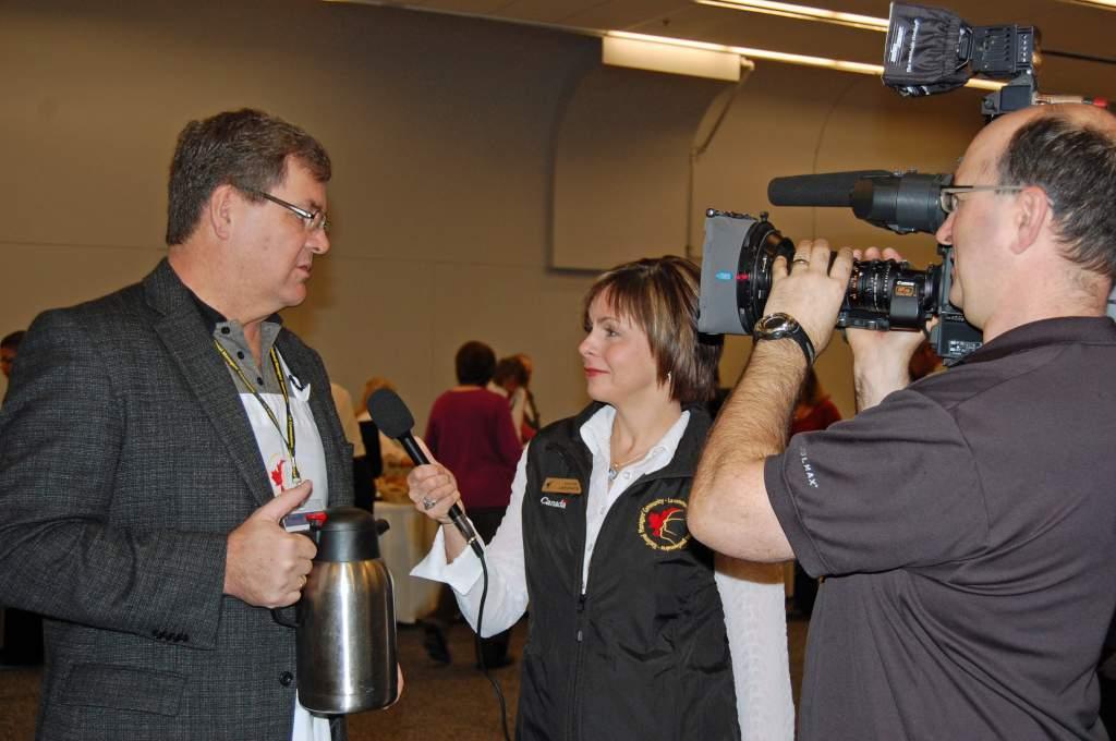 Sylvie interviewing Geoff Munro