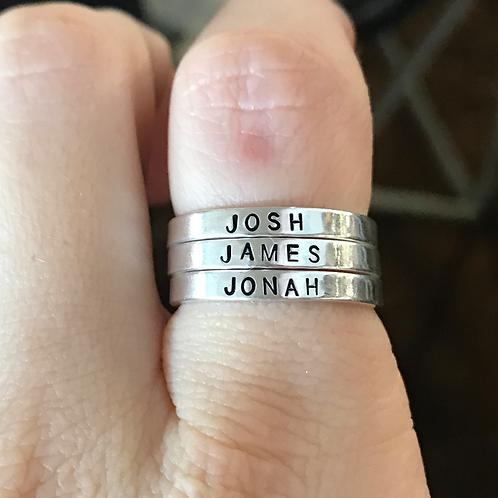 Sterling Silver Ring-3mm