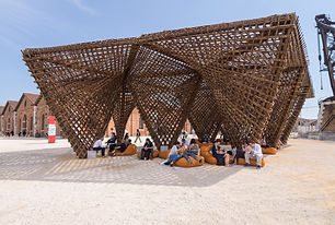 Bamboo Stalactite _16th International Architecture Exhibition - La Biennale di Venezia, FREESPACE