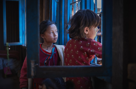 Students of the Jugal Child Development Centre in Sindhupalchok, Nepal