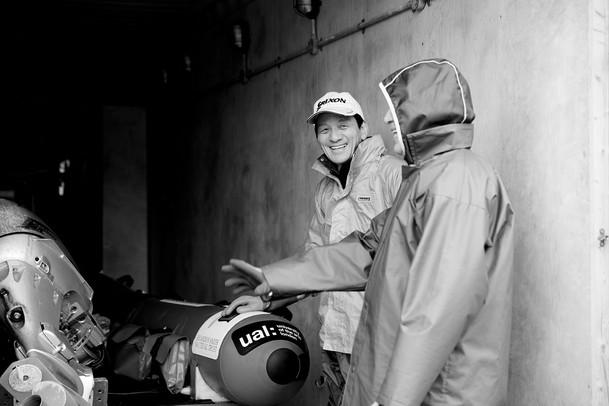 Crew of Atlantic Pacific lifeboat, Kamaishi, Japan