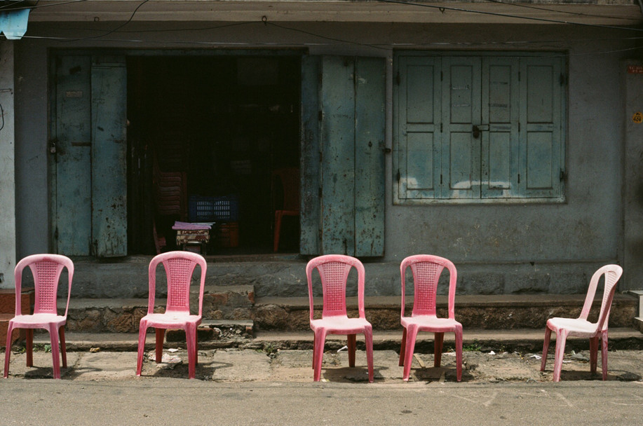 Chairs, India.