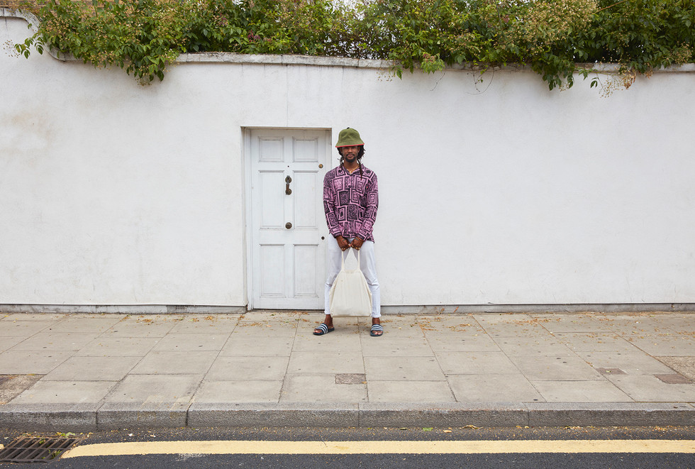 Akinola Davies photographed for Guardian Labs