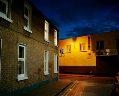Dublin street at night