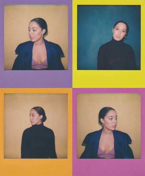 Grace Carter polaroids, photographed for Polydor Records