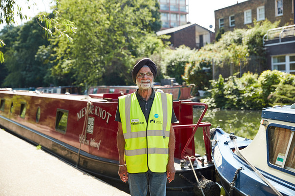 Gordon, Canal and River Trust volunteer, photographed for The Guardian / Guardian Labs