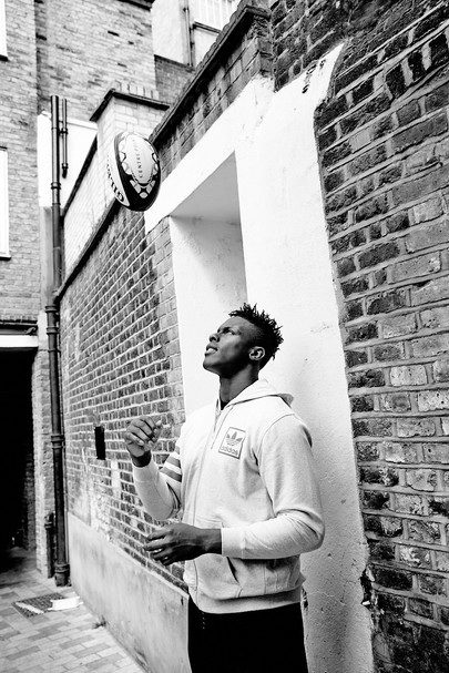 Maro Itoje photographed for Hat-Trick / Centre Point / Almacantar
