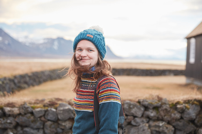 Jenny photographed in Iceland