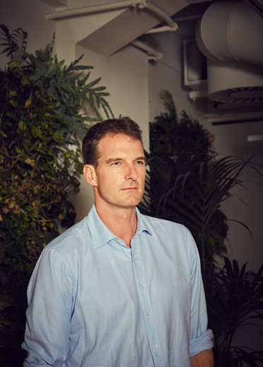 Dan Snow photographed for British Red Cross