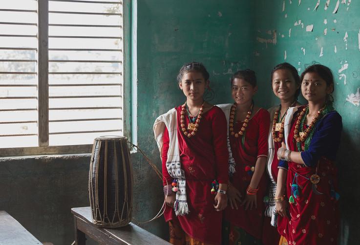 Sakala Devi Secondary Scool students, Nepal