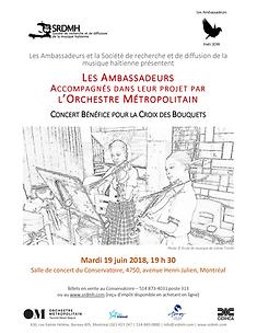 Affiche concert benefice Les Ambassadeur