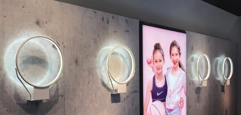 Nike, Lit basketball hoop displays