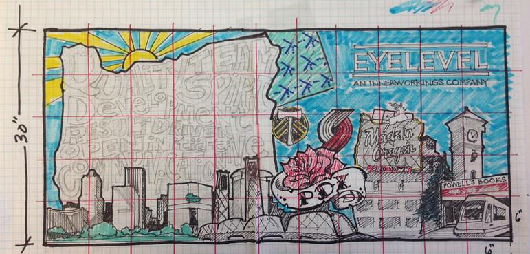 "Company Values Mural, 66""x36"""