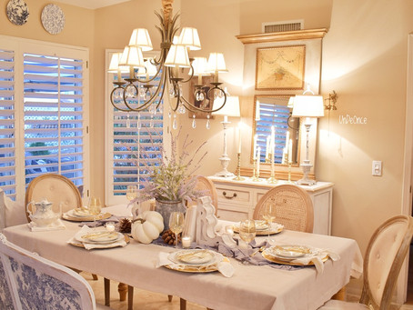Creating a French Dinning Room and Fall Tablescape
