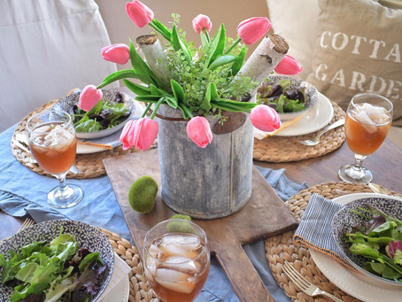 Spring Tablescape While Indoors