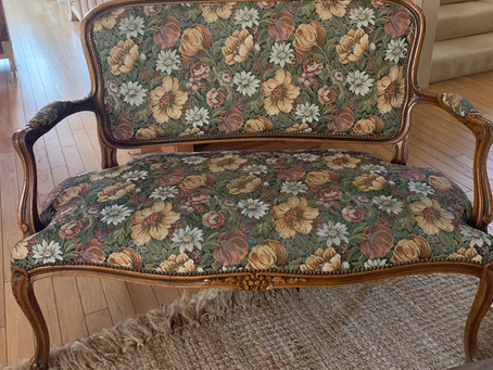 A Settee Gets A New Life