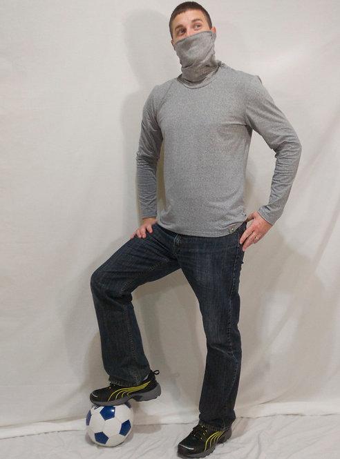 Light Grey Collong Long Sleeve Shirt