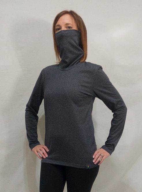 Charcoal Collong Long Sleeve Shirt