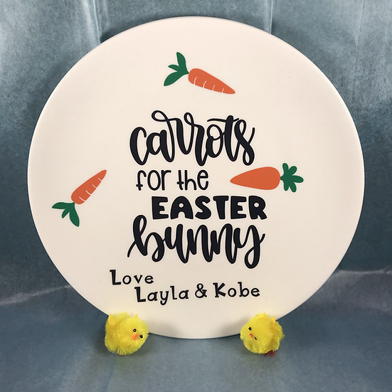 Personalised Easter Bunny Plate