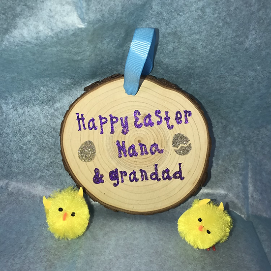 Personalised Wooden Easter Decoration