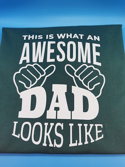 Awesome Dad T-Shirt (Round neck)