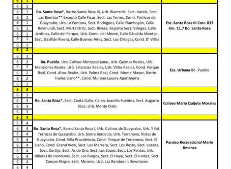 Centros de Voto Adelantado  Sábado, 31 de octubre 2020               P6 - Colegios Abren 9:00AM