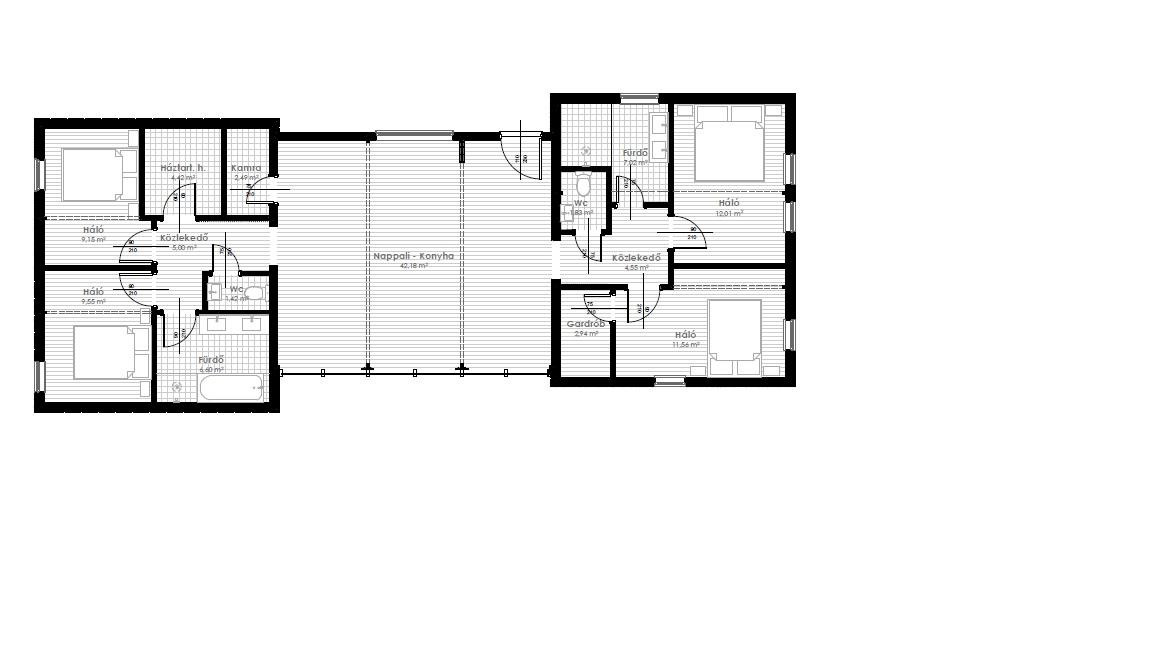 135 m2 alaprajz