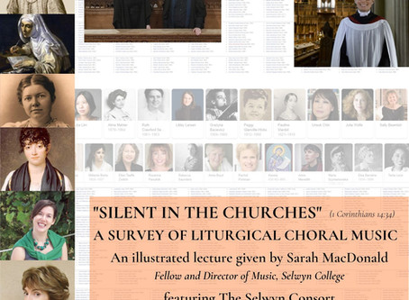 """""""Silent in the Churches"""" - Liturgical Choral Music by female composers"""