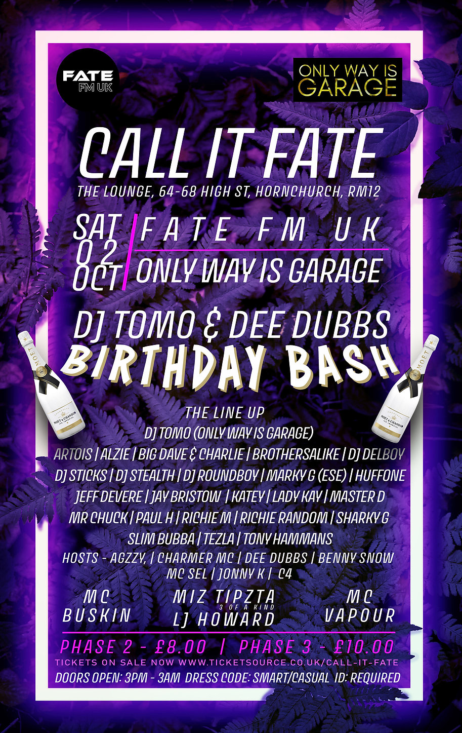 CALL IT FATE 2.10.21 FULL LINE UP