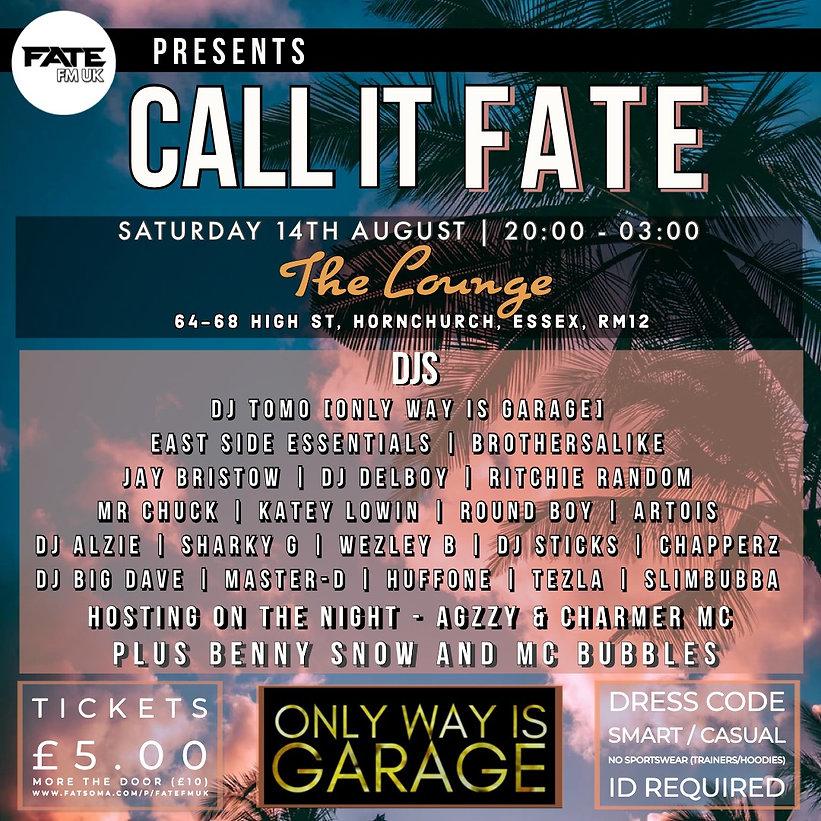 Call It Fate - Event 14.8.21