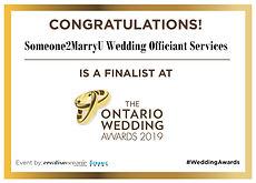Finalist Poster - ON Wedding Awards 2019