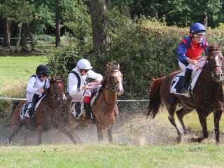 25 mars 2018, 2 hippodromes accueillent les courses de poneys au galop -