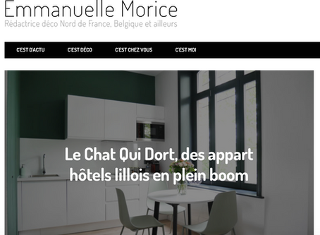 On parle de nous dans le blog d'Emmanuelle Morice :)