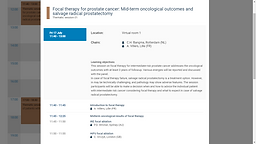Focal therapy for prostate cancer: Mid-term oncological outcomes and salvage radical prostatectomy