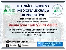 REUNIÃO do GRUPO MEDICINA SEXUAL e REPRODUTIVA da DISCIPLINA de UROLOGIA da FMABC