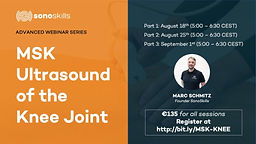 MSK ULTRASOUND OF THE KNEE JOINT