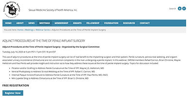 DJUNCT PROCEDURES AT THE TIME OF PENILE IMPLANT SURGERY