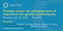 Prostate cancer: An emerging area of importance for genetics professionals