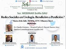 1er Webinar SoMe SAU - Redes Sociales en Urología. Bendición o Perdición?