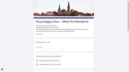 Hoya Happy Hour - Meet the Residents