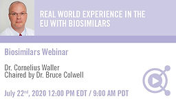 REAL WORLD EXPERIENCE IN THE EU WITH BIOSIMILARS