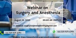 Webinar on Surgery and Anesthesia